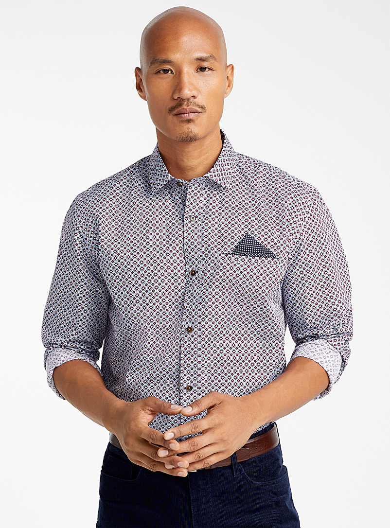 Preppy paisley shirt  Comfort fit - Patterns - Baby Blue