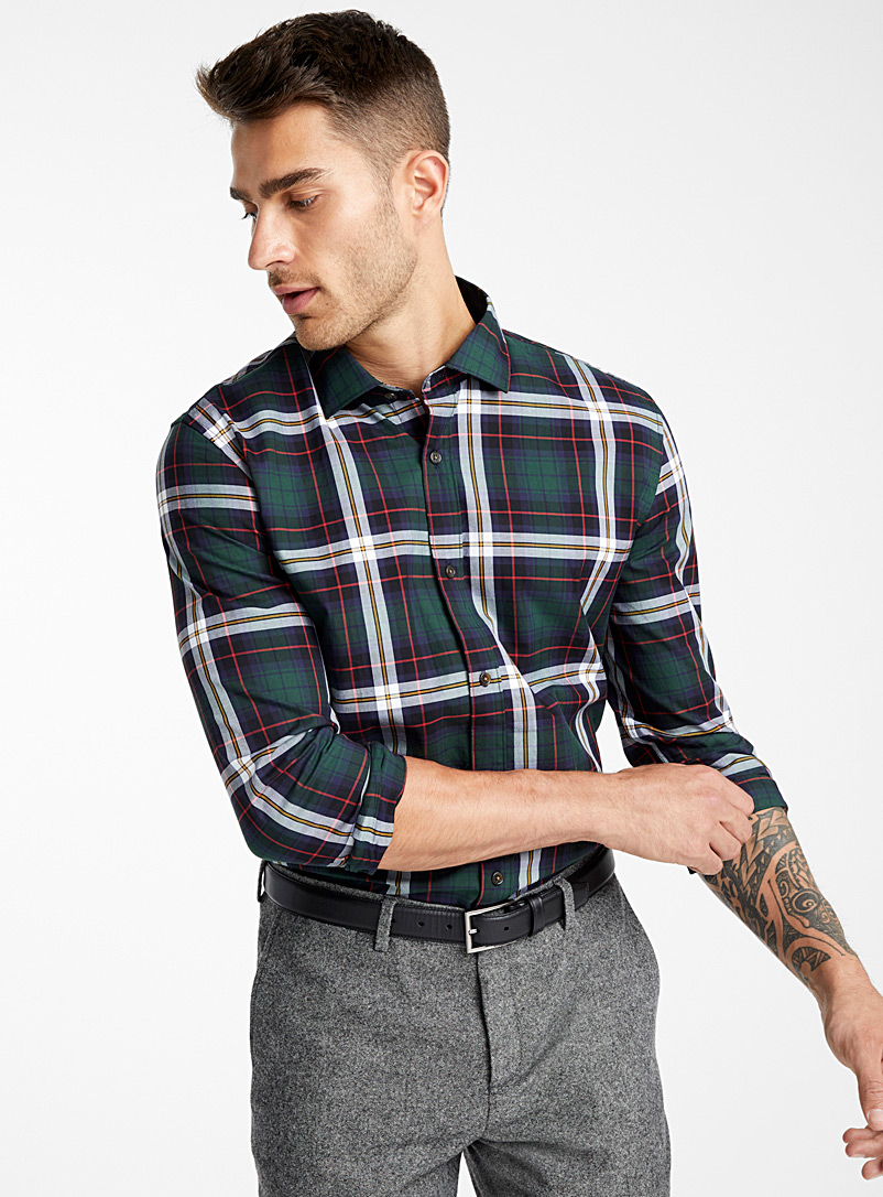 Assorted tartan shirt  Modern fit - Checks - Marine Blue