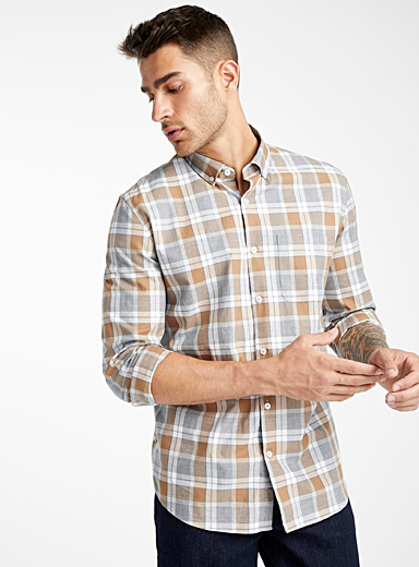 All-over check shirt  Modern fit