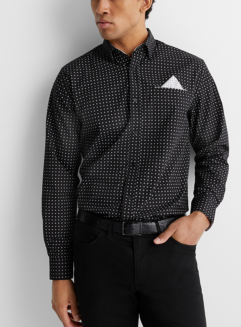 Mini-pattern shirt  Comfort fit