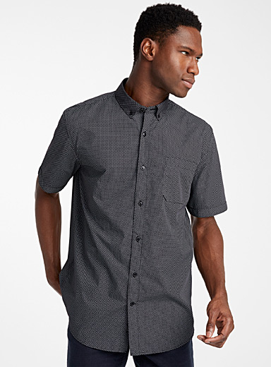 Optical plus-sign shirt  Modern fit