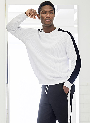 Sporty-sleeve sweater