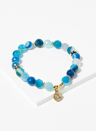 Aura Vibe Patterned Blue Midnight Blue bracelet for women
