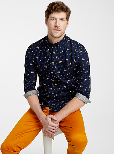 Garden flower shirt  Modern fit