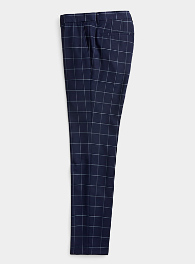Nautical check pant  Slim fit