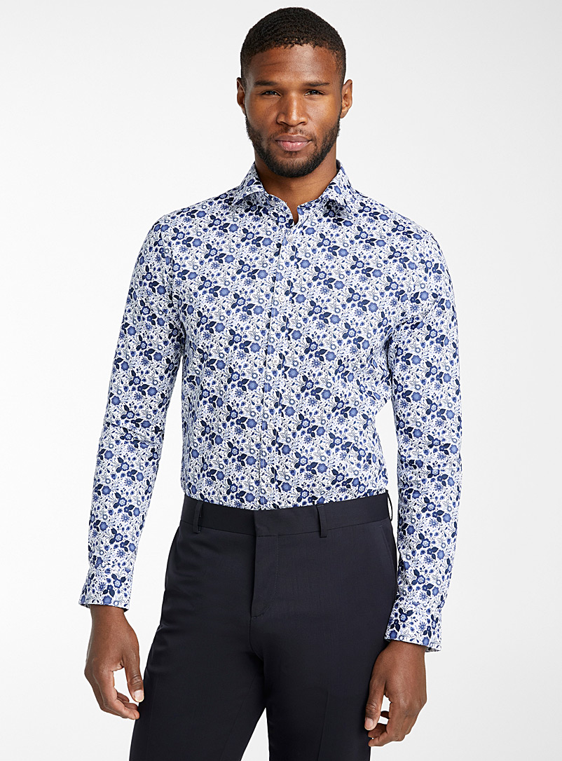 Matinique Blue Indigo garden shirt  Modern fit for men