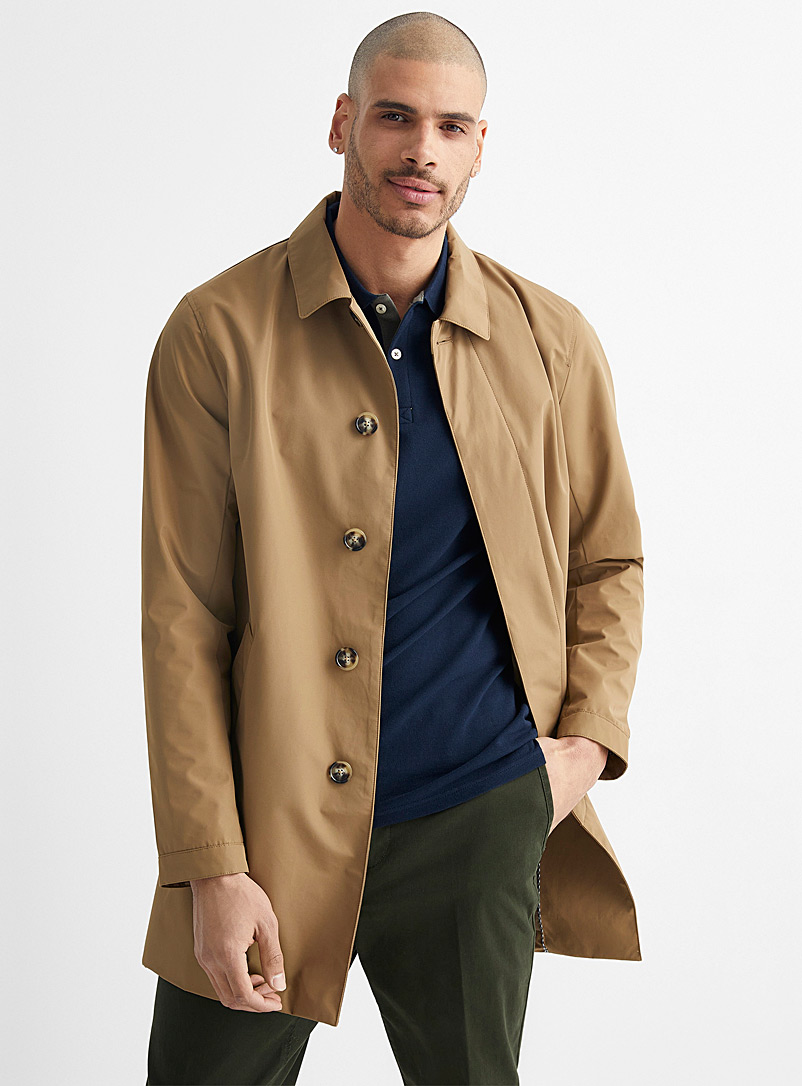 Matinique Fawn Miles trench coat for men