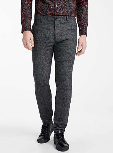 Salt and pepper heathered pant <br>Slim fit