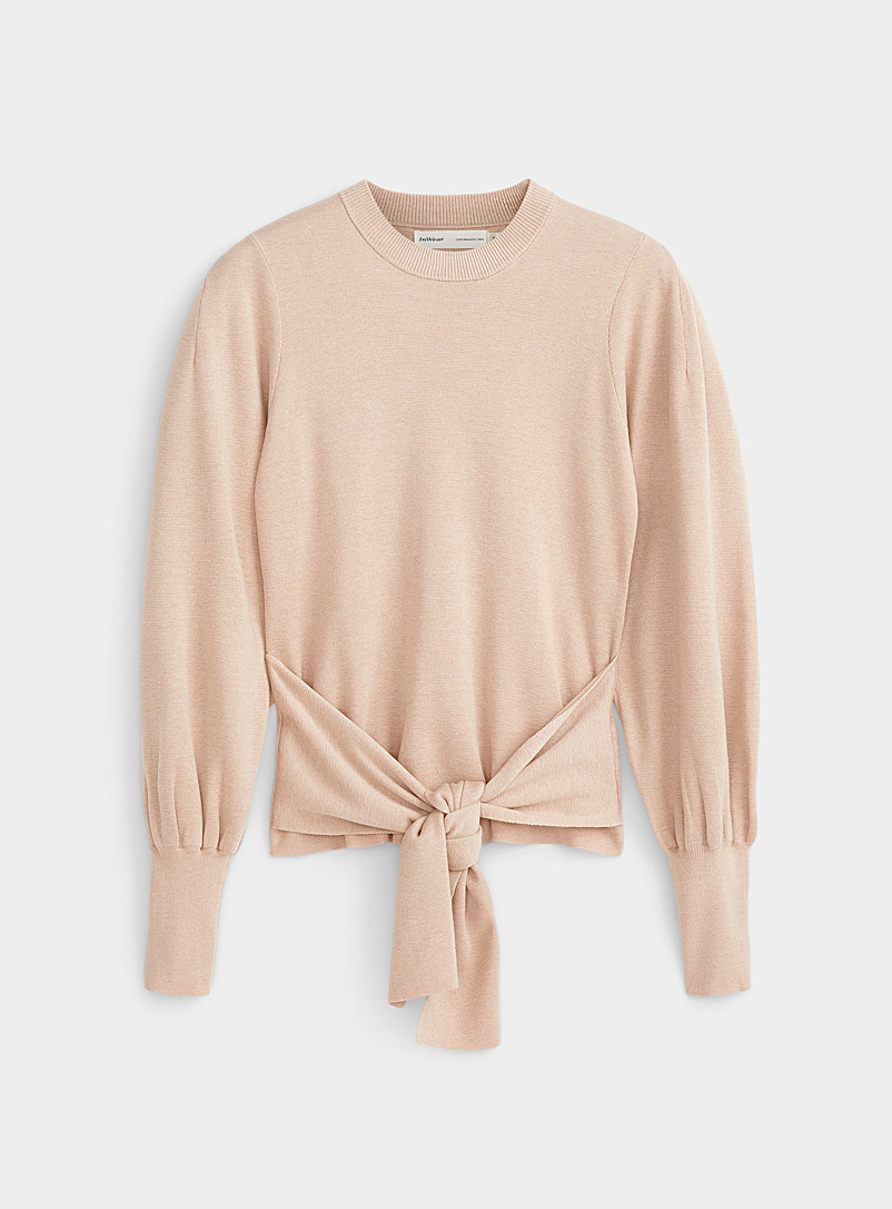 InWear Dusky Pink Sammy tie-belt sweater for women