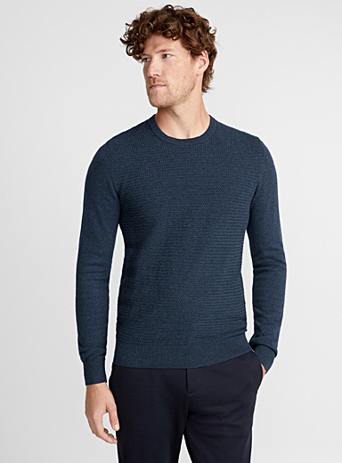 Embossed jacquard sweater