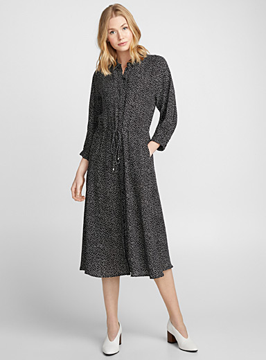 Harlow dotted shirtdress