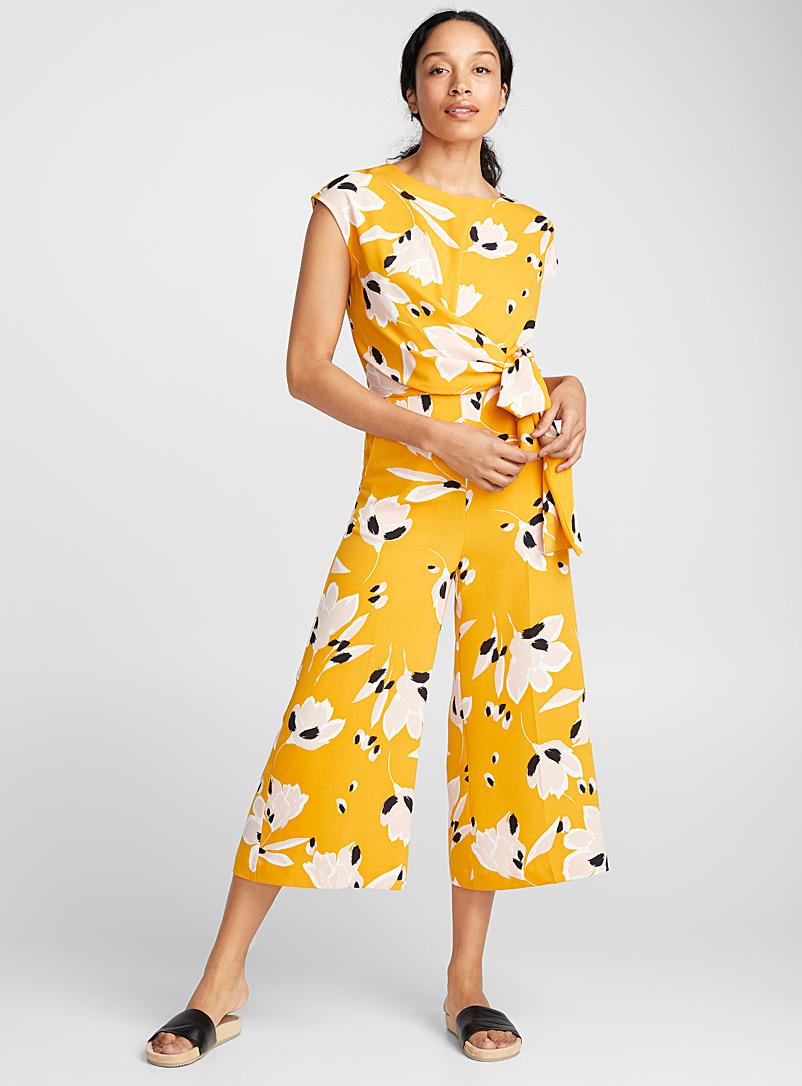 Zhen sunny flower jumpsuit - Jumpsuits & Rompers - Patterned Yellow