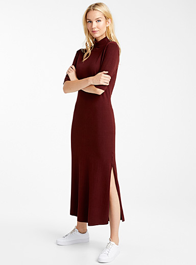 Cocoa knit turtleneck dress