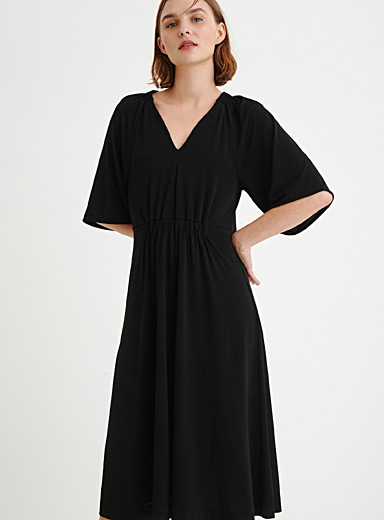 InWear Black Draped-waist dress for women