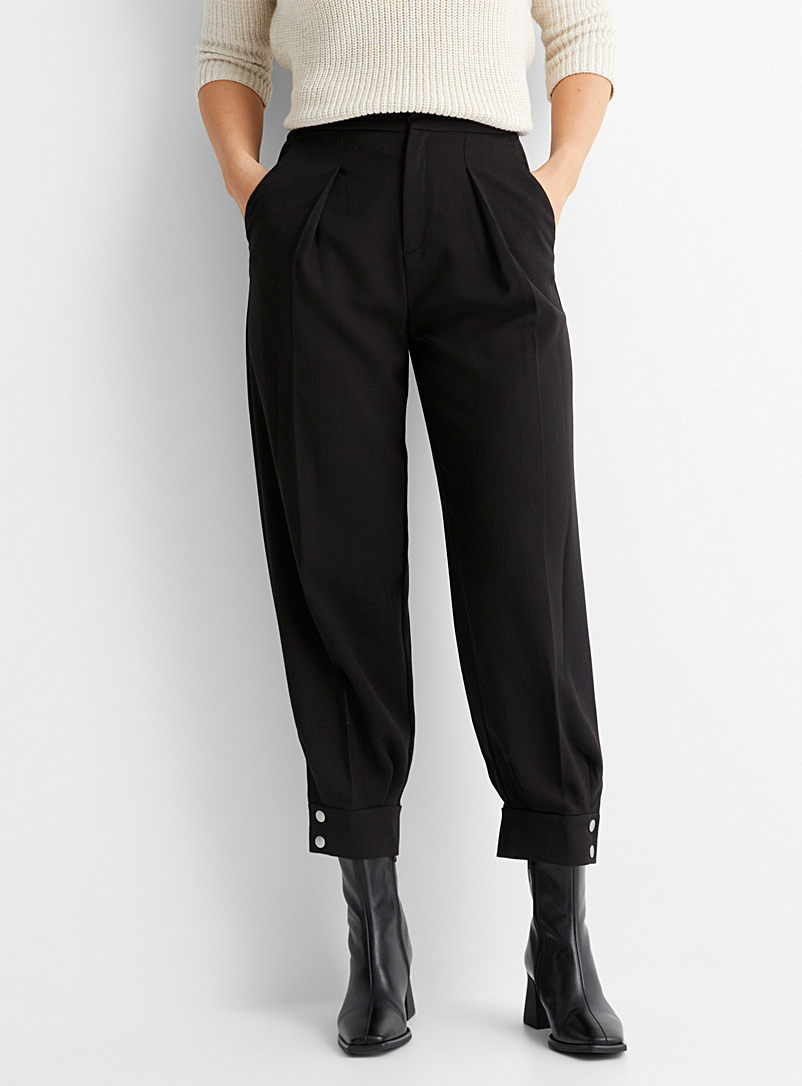 InWear Black Buttoned-ankle pant for women