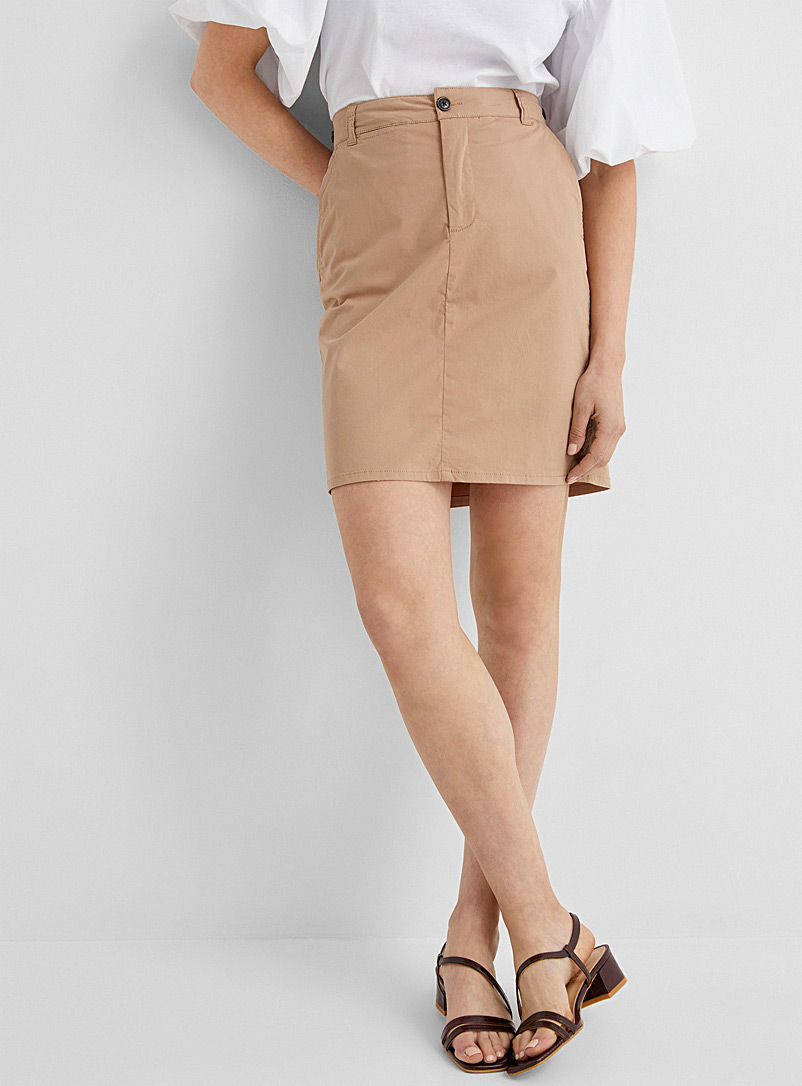 InWear Sand Brital cotton straight skirt for women
