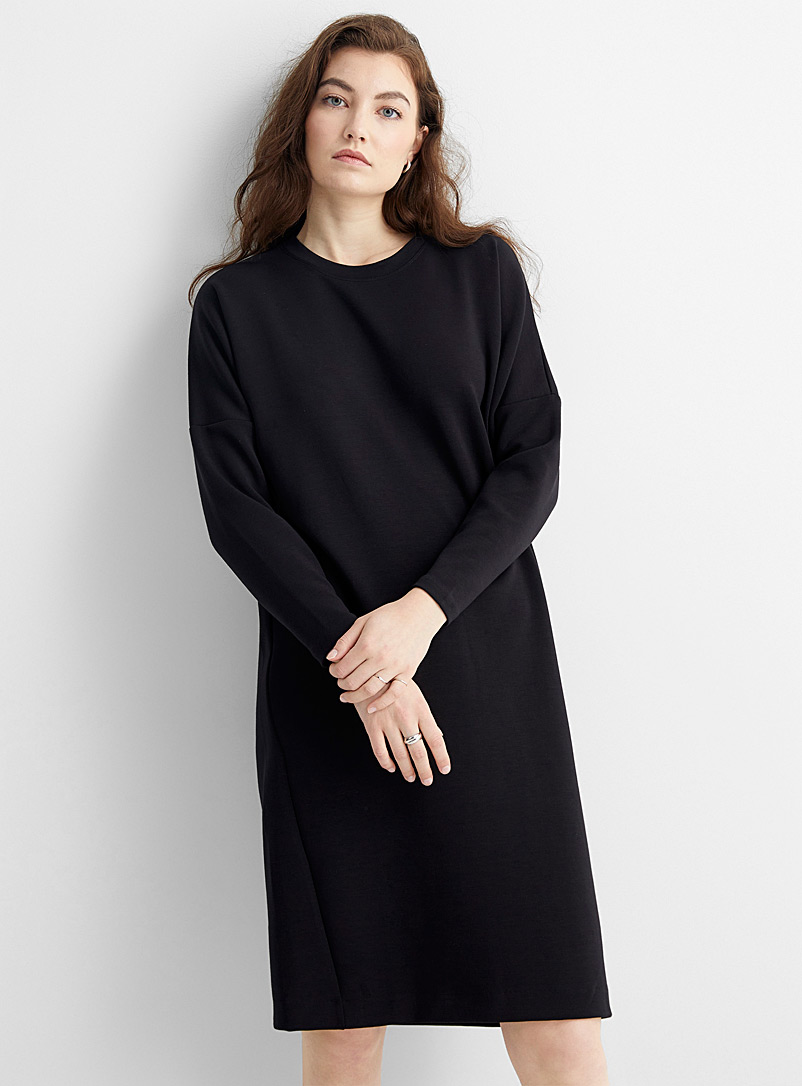 InWear Black Vincent minimalist loose sweatshirt dress for women