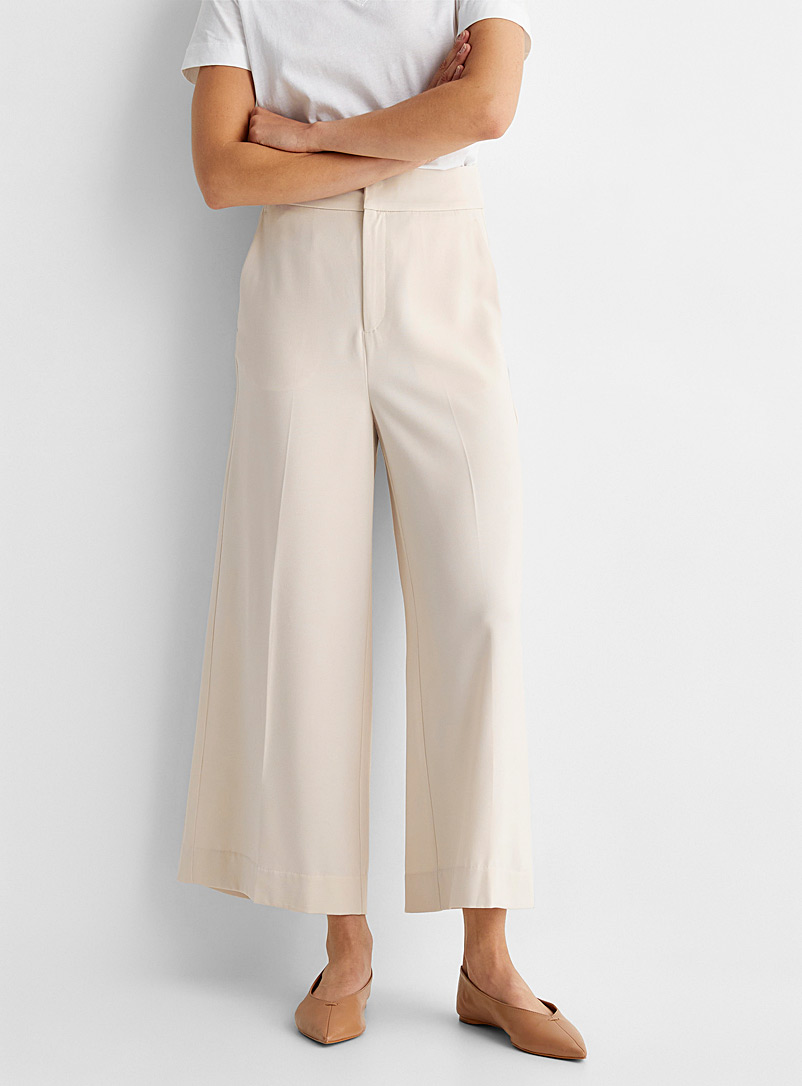 InWear Ivory White Adial fluid wide-leg pant for women