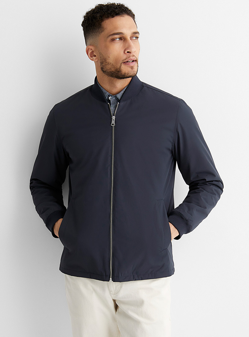 Matinique Marine Blue Modern bomber jacket for men