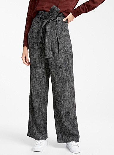 Faded chevron wide-leg pant