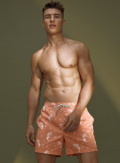 Peachskin swim trunk