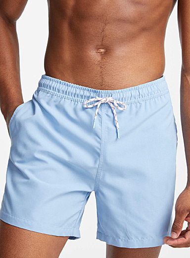 I.FIV5 Baby Blue Monochrome recycled polyester swim trunk for men