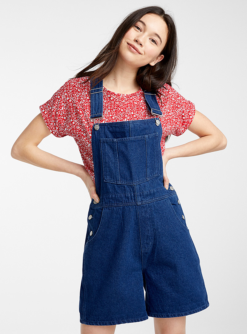 Twik Blue Loose eco-friendly denim overalls for women
