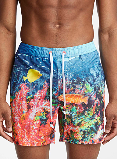 Summer print REPREVE swim short