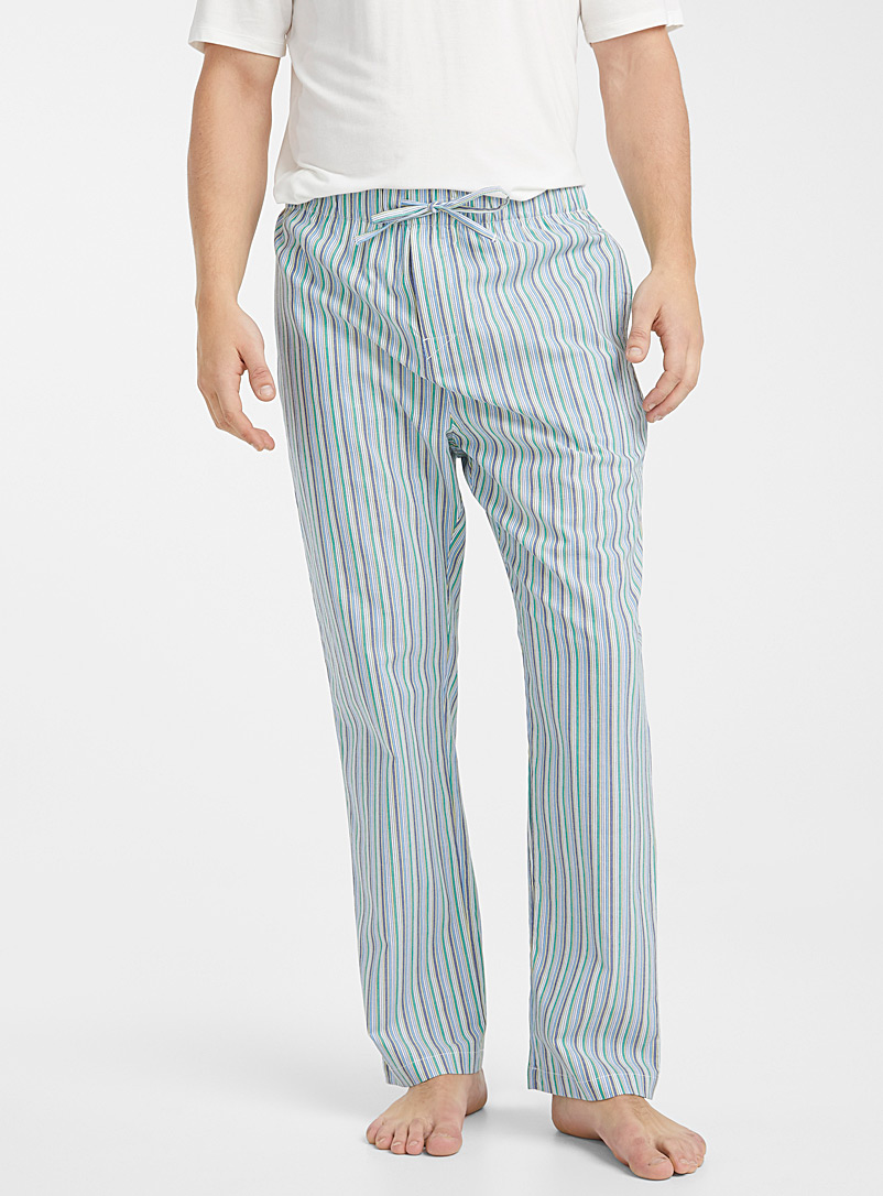 Le 31 Green Organic cotton vacation lounge pant for men