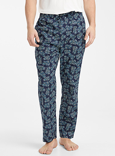 Le 31 Marine Blue Vacation organic cotton lounge pant for men