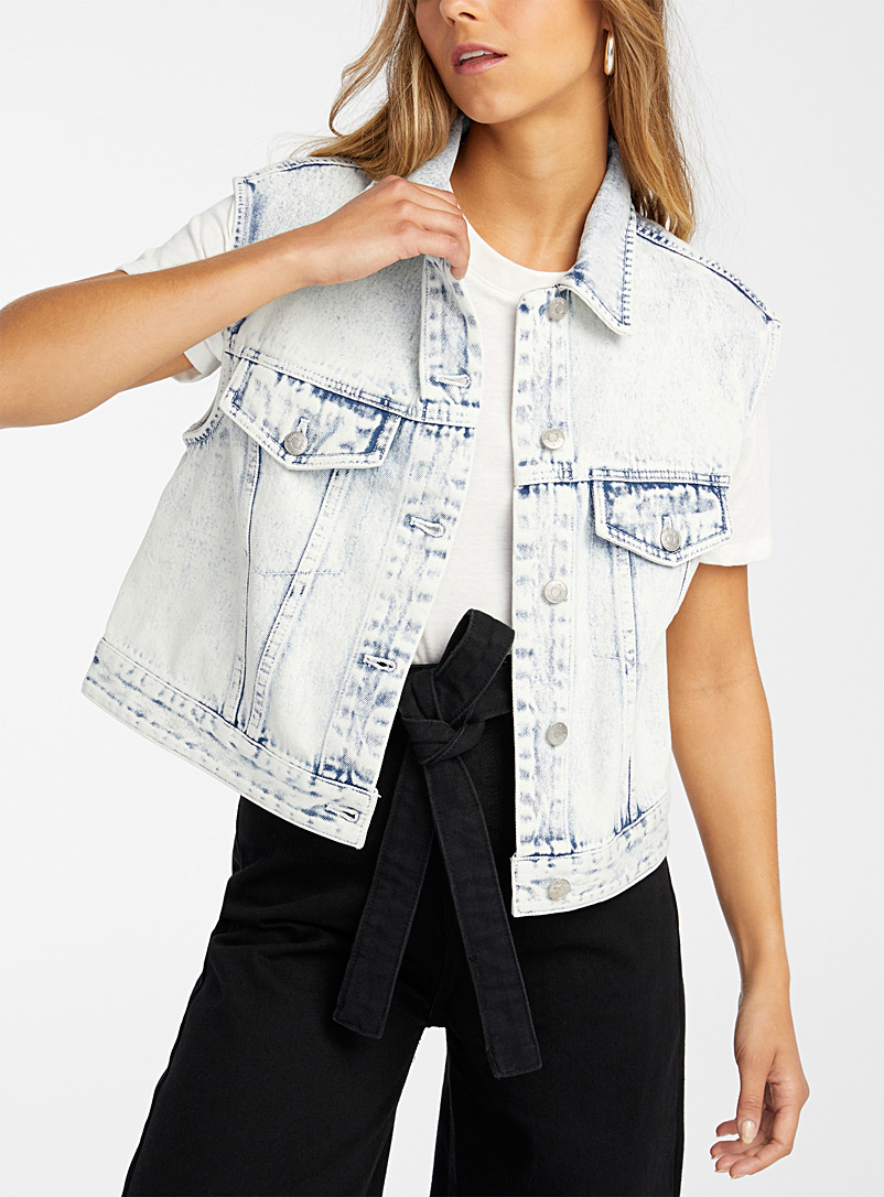 Cropped organic cotton denim jacket