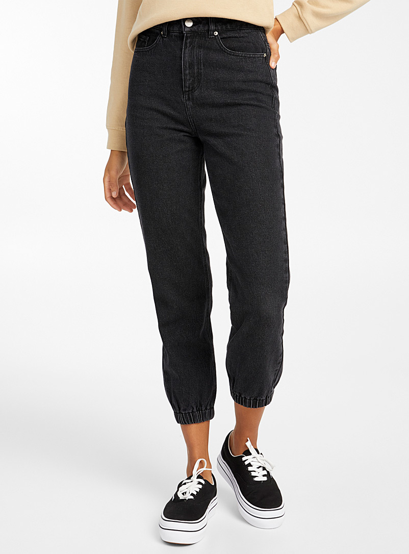 Twik Oxford Organic cotton jean joggers for women