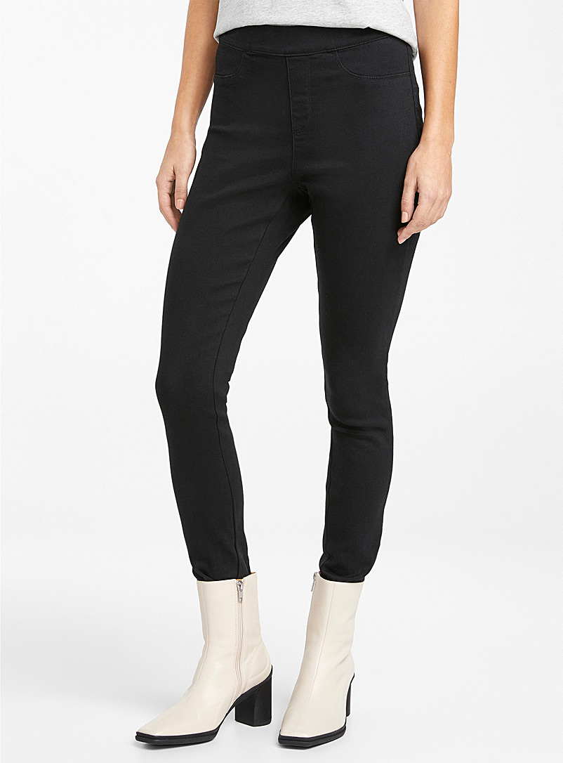 Icône Black Black stretch jegging for women