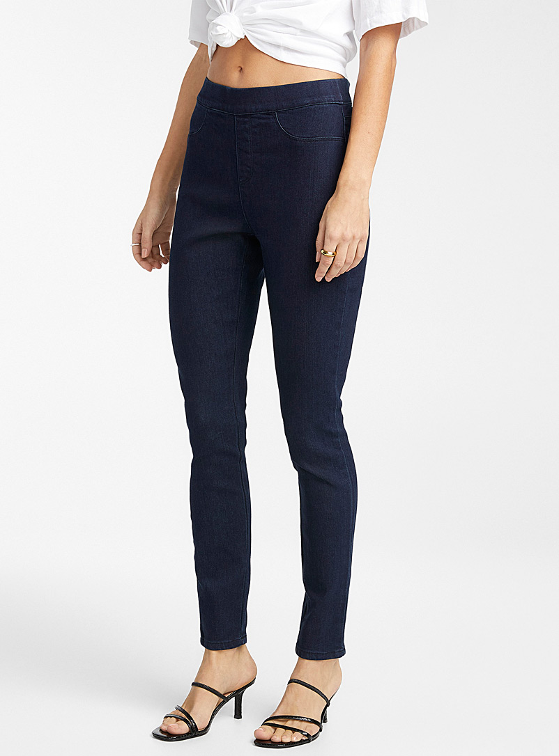 Icône Marine Blue Dark indigo stretch jegging for women