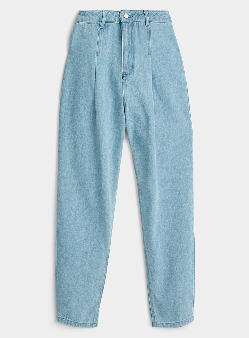 Twik Oxford Organic cotton vintage pleated mom jean Old School fit for women