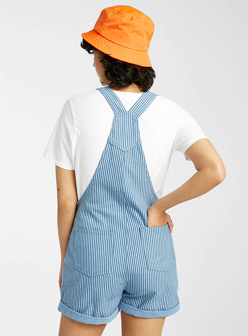 Twik Assorted Eco-friendly denim striped overall short for women