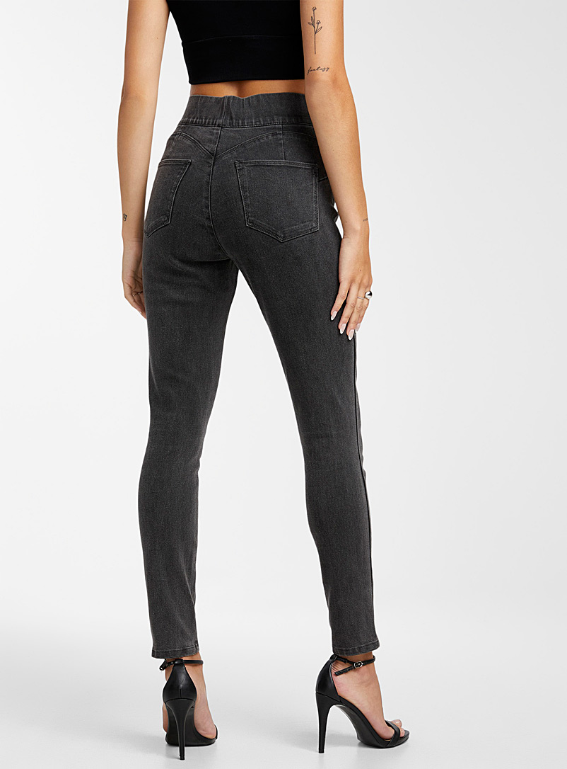 Icône Charcoal Faded black stretch jegging for women