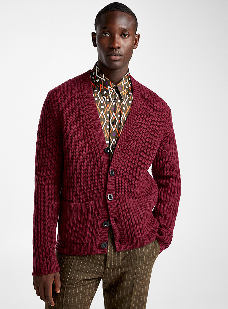 burgundy-knit-cardigan