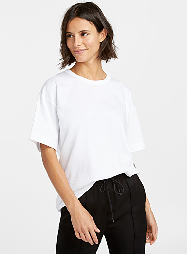 Loose pure cotton white tee