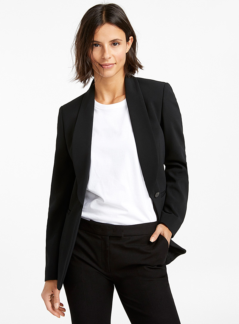 Joseph Black Kwatu tuxedo-collar jacket for women