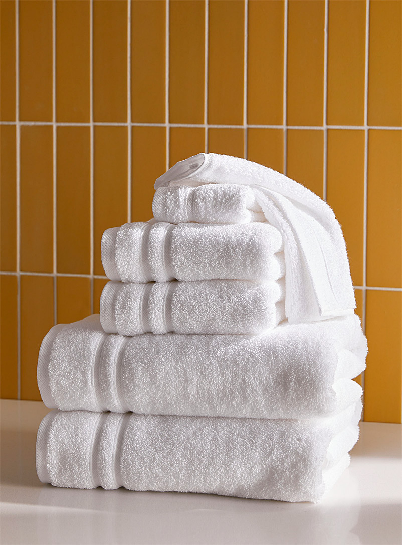 6-piece towel set - Solid - White