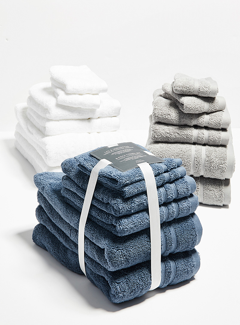 Simons Maison Blue 6-piece towel set