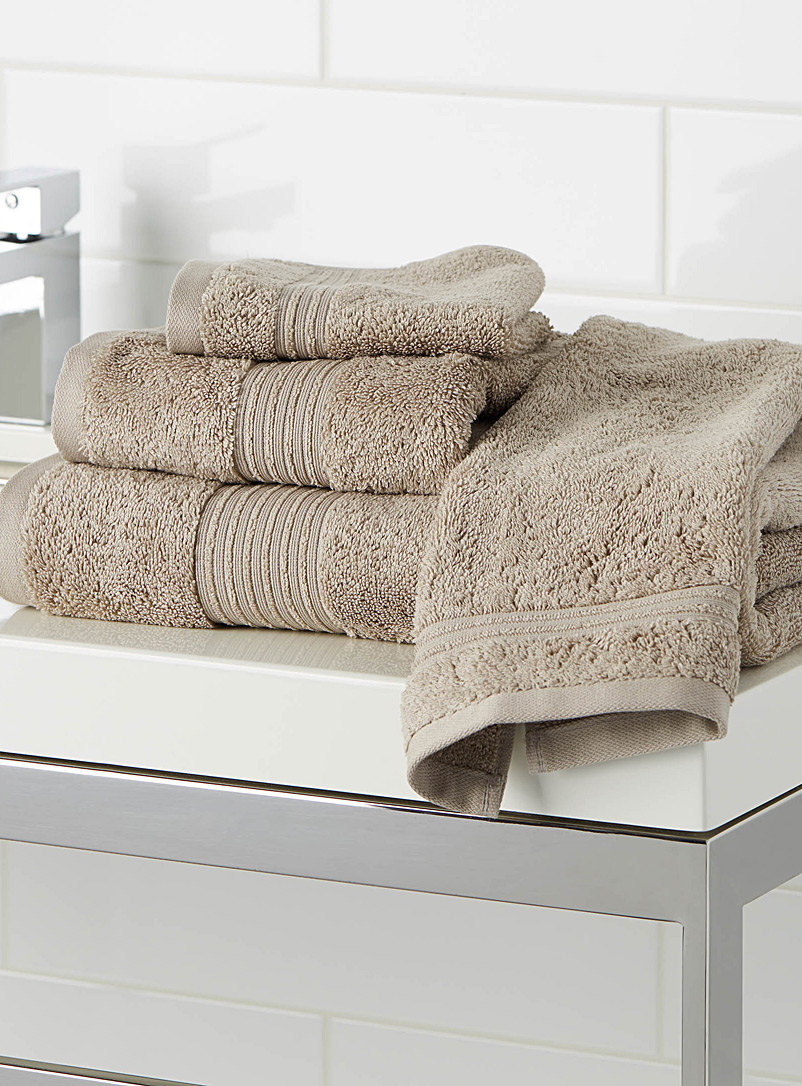 Airy cotton towels - Bath Towels - Light Brown