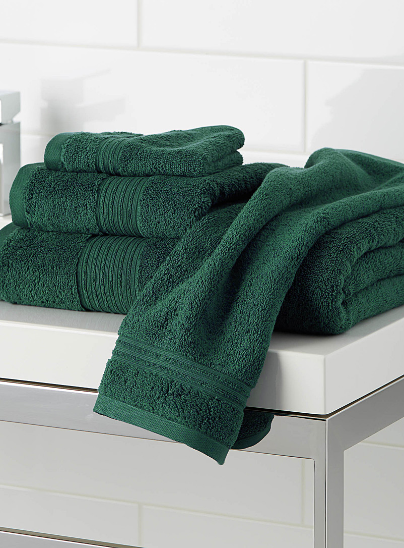 Airy cotton towels - Solid - Green