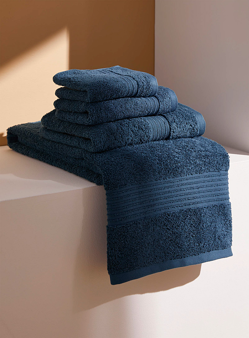 Simons Maison Dark Blue Airy cotton towels