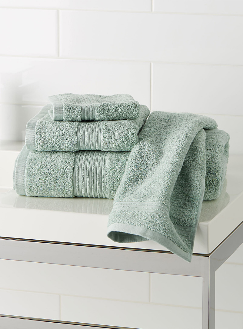 Airy cotton towels - Solid - Baby Blue