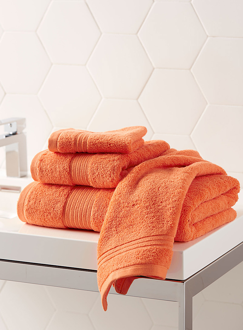 Airy cotton towels - Solid - Orange