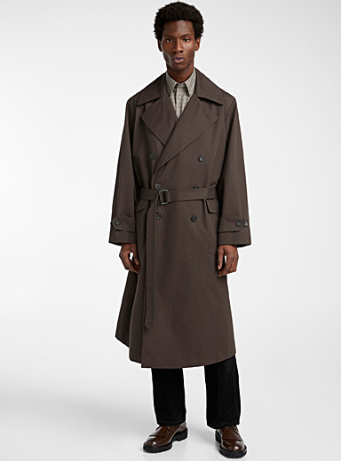 Ecole de Pensée Green Oversized trench for men