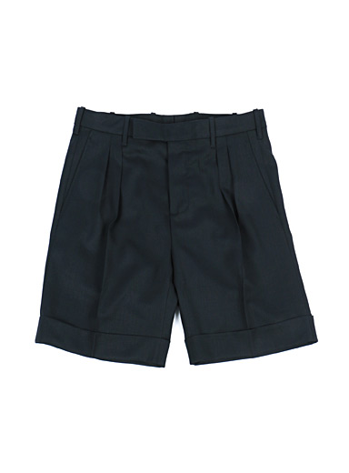 Ecole de Pensée Marine Blue Pleated short for men