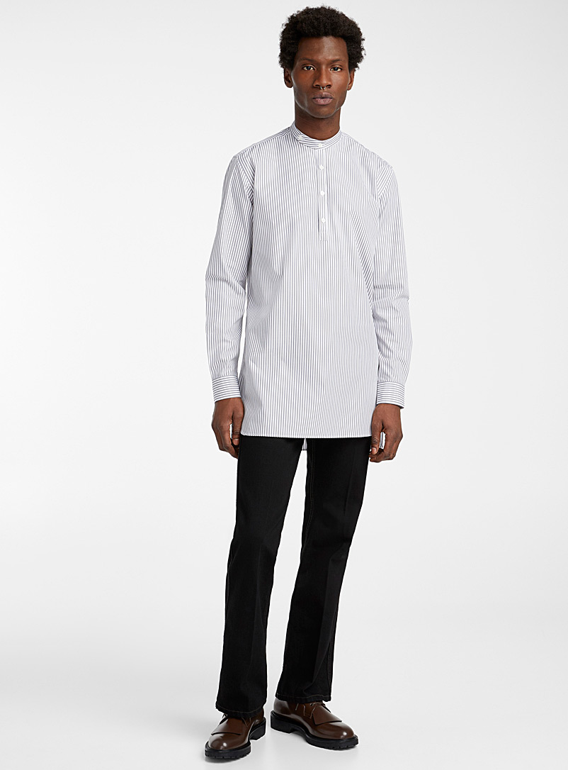 Ecole de Pensée Ivory White Liquette shirt for men